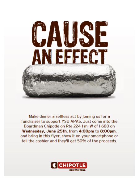 APAS Chipotle Fundraiser Flyer