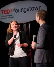 TEDxYoungstown organizer Lori Shandor and speaker at Tedx 2014