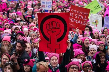 Photo of 2017 Women's March crowd