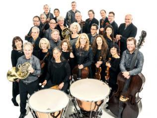 Photo of Orpheus Chamber Ensemble with instruments