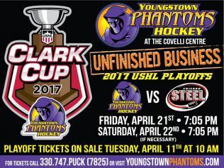 Youngstown Phantoms playoff flier