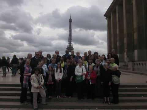 The WYSU group at the Eiffel Tower