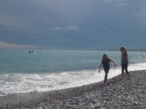 Searching for sea glass on the Cote d'Azur