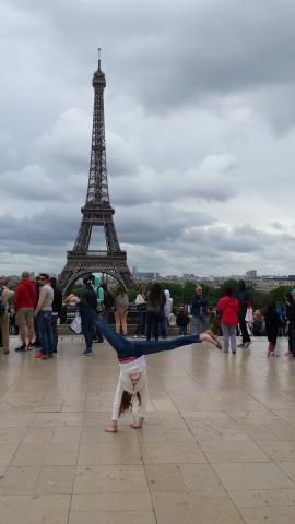 Cartwheels at the Eiffel Tower