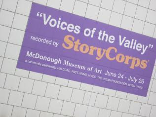 StoryCorps poster at McDonough Museum, YSU