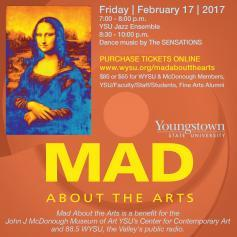 Mad About the Arts, Mona Lisa graphic and info