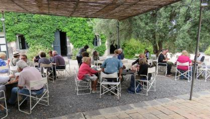 WYSU group dining at La Contessa Giovanna's Casa Bianca, Sicily