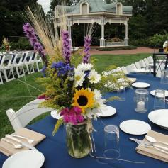 Garden Party tables and gazebo in Mill Creek Park