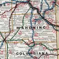 Map of the Mahoning Valley
